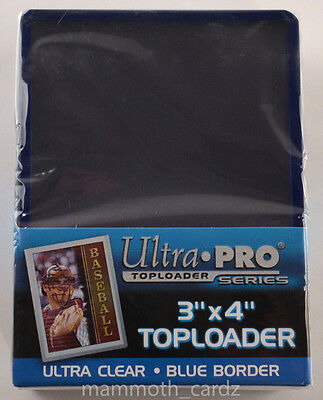 Ultra Pro Toploader Series Blue Border 1 packet of 25 Brand New