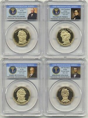 2010 S Presidential Dollar 4 Coin Proof Set PCGS PR69 DCAM Lincoln