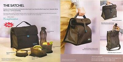 Tupperware Satchel Lunch Set - with Keep tab,500 ml Bottle-Free Shipping-New