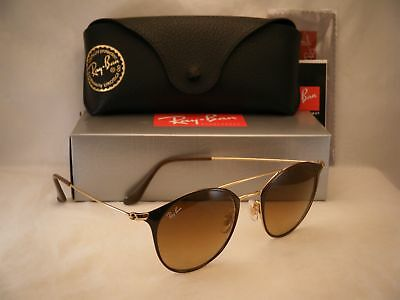 Ray Ban 3546 Gold Brown w Brown Gradient Lens (RB3546 900985 49 mm size 2414d800fb49