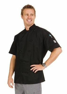 DNC 3 Way Vented Lightweight Chefs Jacket Short Sleeve White or Black see sizes