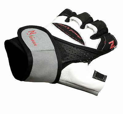 Pro Lift Gel Weight lifting body building gloves Gym Straps Bar Leather Grip