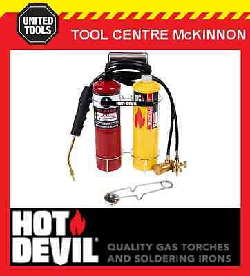 Hot Devil Hdoxy Portable Oxy Welding, Cutting, Brazing Kit – Includes Gas