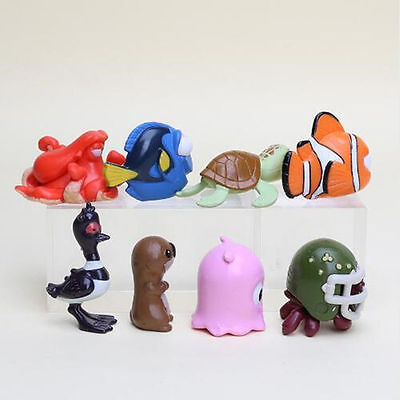 8PCS/SET New Finding Nemo Dory Crush Otter Action Figures PVC Toys Gifts