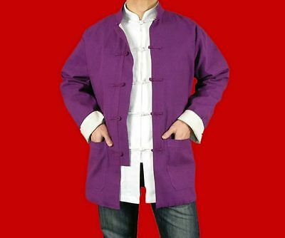 100% Cotton Purple  Kung Fu Martial Arts Tai Chi Jacket Coat XS-XL Tailor Made