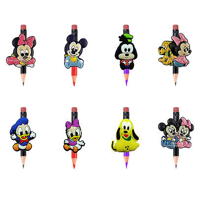 8pcs Mickey House Pencil Topper Pencil Cap School office supplies Kid Party Gift