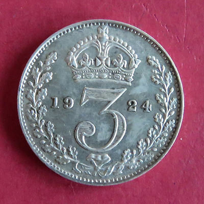 1924 King George V Maundy Silver Threepence