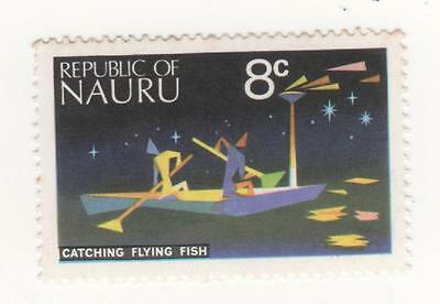 1973 NAURU  8c Catching flying fish  stamp SG#105 Mint MUH #