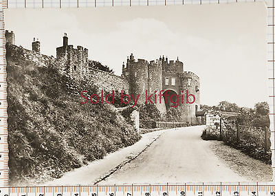 Approach to Dover Castle vintage postcard real photo