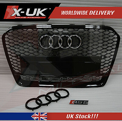 Rs5 Style Front Grill With Quattro For Audi A5, S5 2012 - 2016