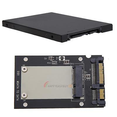 "Metal External mSATA SSD to 2.5"" SATA Convertor Adapter Enclosure Case for PC"