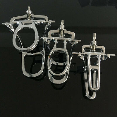 3pc Dental Lab Articulator Chrome Plated Full High Arch Adjustable L/M/S Size
