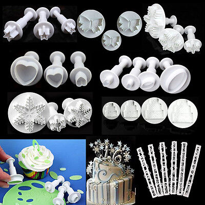 40 Types Cookie Fondant Cake Sugarcraft Chocolate Decorating Plunger Cutter Mold