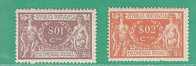 Portugal 1920 2 Parcel Postal Stamps Mint Not Hinged
