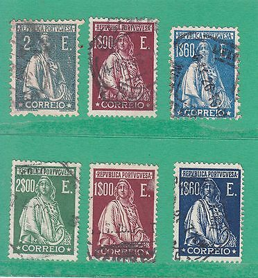 Portugal 1912 6 Stamps Used