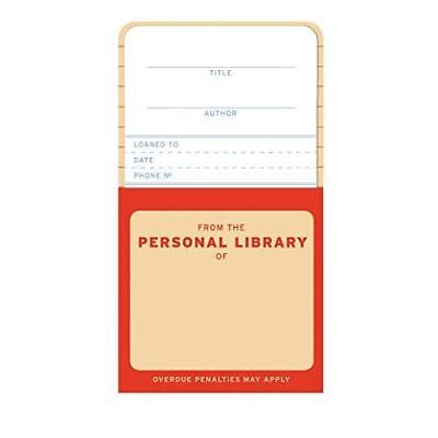FREE 2 DAY SHIPPING: Knock Knock Personal Library Kit Refill Cards (Perfect