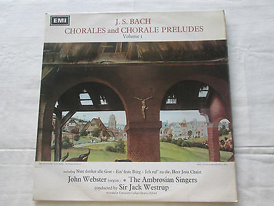J.s.bach Chorales & Chorale Preludes 1968 Stereo His Masters Voice Hqs1116