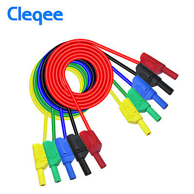 Cleqee P1050 1M 4mm Banana to Banana Plug Soft RV Test Cable Lead for Multimeter