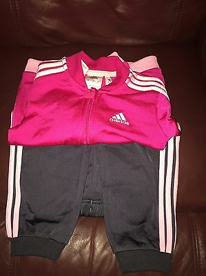 Adidas Infant Girls Tracksuit Aged 12-18 Months
