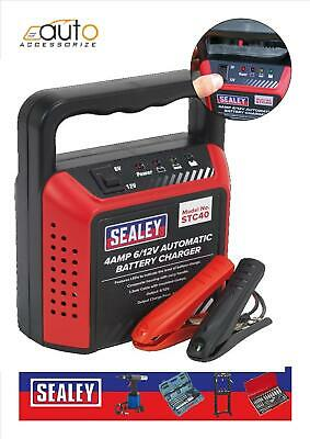 Sealey Compact Battery Charger 6/12V 4Amp 230V Automatic Car Van Motorbike Mower
