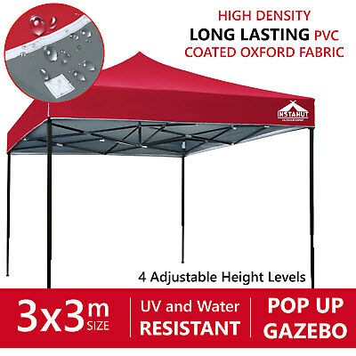 Pop Up Tent 3x3m Gazebo Folding Marquee Party Wedding Camping Canopy Outdoor New