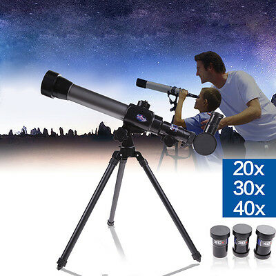 40X Refractor Telescope Microscope with Tripod Star Observe Galaxy Astronomical