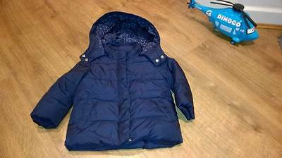 GAP Age 3 Navy Blue Warm Girls Coat - ideal for winter!
