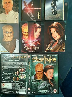 Starhyke : Complete Season 1 Dvd, Signed By Claudia Christian And The Creators