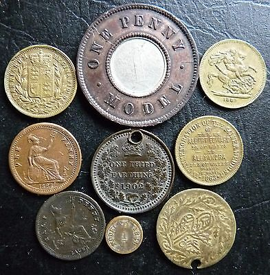 Good Assortment Of 9 X Different Coins,victoria Play Money Etc