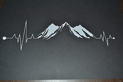 Sanctuaries Edge Heartbeat Mountain Sticker Decal Mountaineering Rock Climbing
