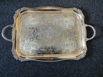 Silver Plated Tray Viners Of Sheffield England Alpha Plate 2.4Kg
