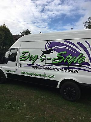 Mobile Dog Wash / Grooming Van -  New Pro Dog Hydrobath & eye-catching fit-out