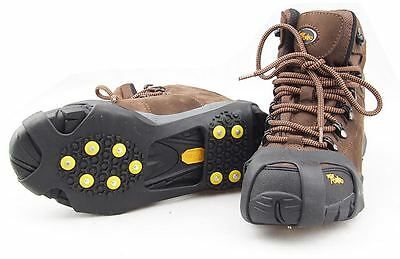 10-Stud Universal Ice Snow Hiking Climbing Shoe Spikes Grips Cleats Crampons