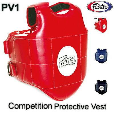 Fairtex Pv1 Competition Protective Vest Boxing Muay Thai Training Kick Mma K1