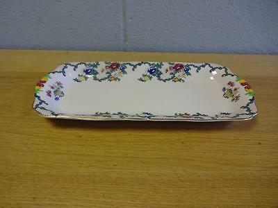 Vintage Royal Cauldon Victoria Pattern Rectangular Sandwich Plate