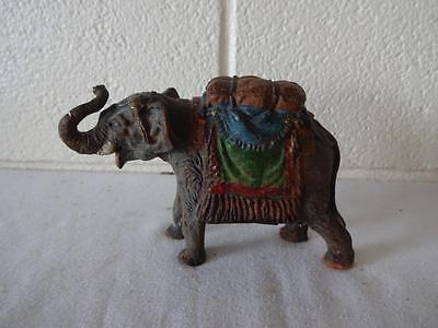 A Vintage Elastolin Elephant Coin Money Box