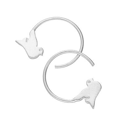 Real 925 Sterling Silver Cat Pull Through Earrings Kitten Pull Thru