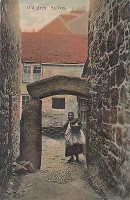 St Ives, Cornwall, Old Arch Postcard unused