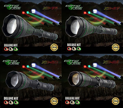 Opticfire® XC 75 67 50 38 LED Deluxe hunting torch light lamp lamping kit - T67