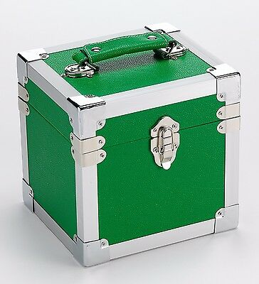 STEEPLETONE  7 inch 'SINGLE' RECORDS STORAGE & CARRY CASE  - GREEN