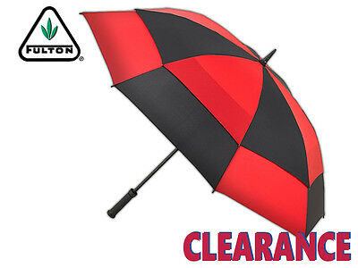 *clearance New* Fulton - Stormshield - Double Canopy Golf Umbrella - Black/red