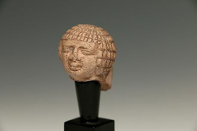 Ancient Egyptian Stone Head Miniature Antiquity • CAD $1,905.37