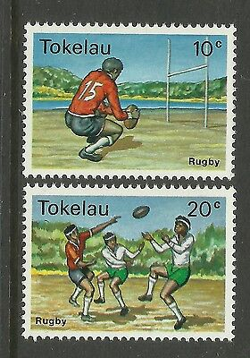 TOKELAU 1979 SPORTS RUGBY UNION Set of 2v MNH