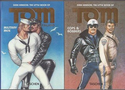2 BD THE LITTLE BOOK OF TOM OF FINLAND Cops Robbers Military Men livre Erotique