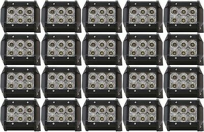 Package of 20 4 Inch 18W Non Cree LED Flood Light Bars for SUV Jeep Truck