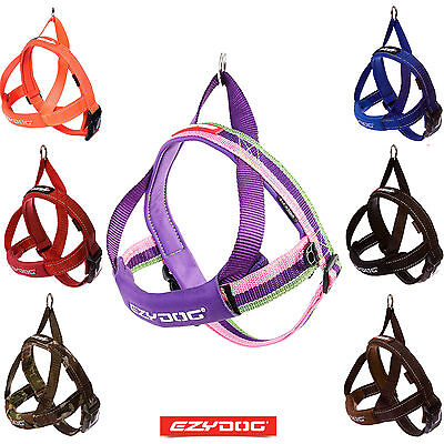 EZYDOG QUICK FIT DOG HARNESS Reflective Stitching Strong Adjustable FREE UK P&P