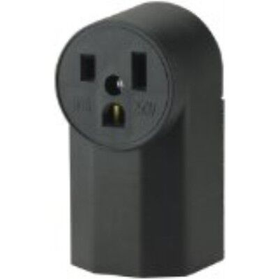 TheEatonWD1252 2-Pole3-Wir 50-Amp125-Volt SurfaceMount Power Receptacle, Black