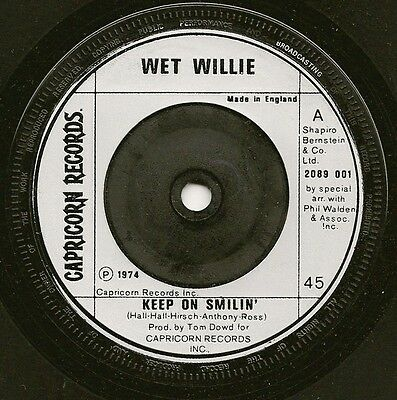 "Wet Willie ""keep On Smilin"" Capricorn Records (Polydor) 2089 001 (1974)"