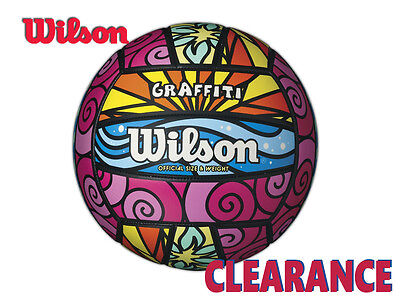 "*clearance New"" Wilson - Graffiti Volleyball - Official Size & Weight"