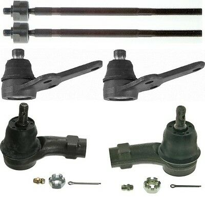 New 6 Pc Set (4) Inner & Outer Tie Rods (2) Ball Joints for a 00-03 Ford Focus